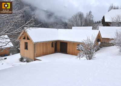 Réhabilitation et extension maison ossature bois