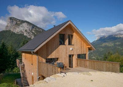Maison ossature bois dans la vallée d'Entremont